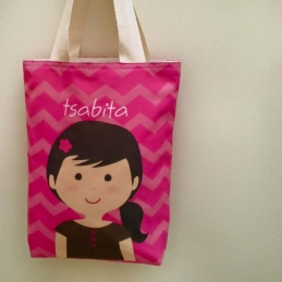 Personalized Character Kids Tote Bag