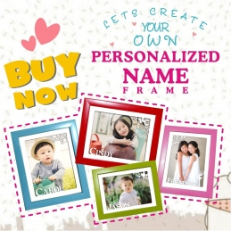 Personalized Poly Frame - Name Frame