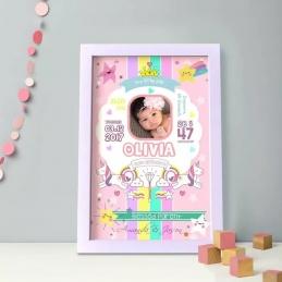 Personalized Baby Bio Frame