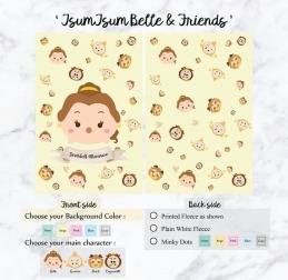 Personalized Premium Fleece & Minky Blanket - Tsum Tsum Series