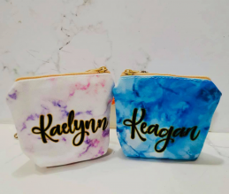 Personalized Coin Pouch - Marble