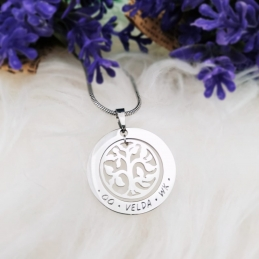 Personalized Life Tree Necklace