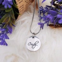 Personalized Single Disc Name Necklace