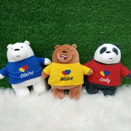 Set of 3 We Bare Bear Plushie