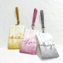 Personalized Marble Glitter Tissue Pouch