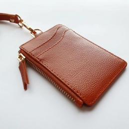 ID Case With Landyard and zipper