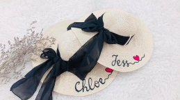 Personalized Beach Hat - Lenka