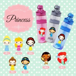 Personalized Sport Bottle - princess edition
