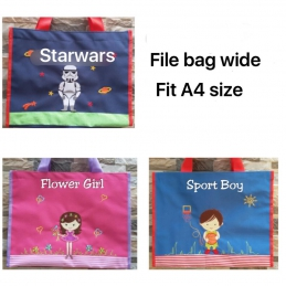 Personalized Embroidery Wide File Bag